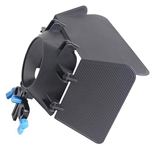 Sharplace 1 Stück 85mm Profi. Mattebox Sonnenschutz, mit Abnehmbarem Drei-Blatt für Home DV Kamera Kamera Zubehör Dv-matte Box