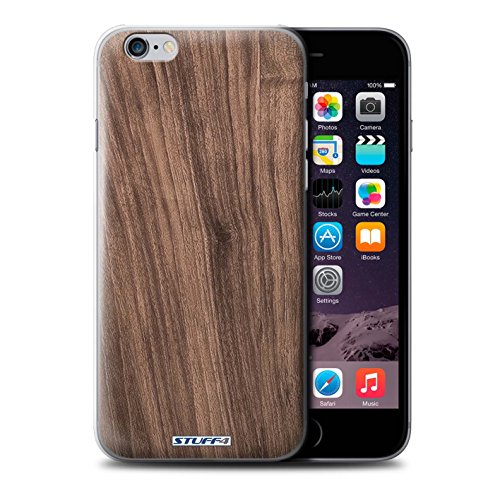 STUFF4 Phone Case / Cover for Apple iPhone 6S / Walnut Design / Wood Grain Effect/Pattern Collection Noyer