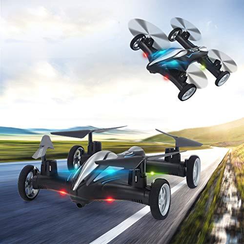 Hukz Dual-Use Land und Luft Drone Fliegende Autos, Ferngesteuertes Auto und RC Quadcopter Ferngesteuerte Drohne Flugzeuge (Schwarz)