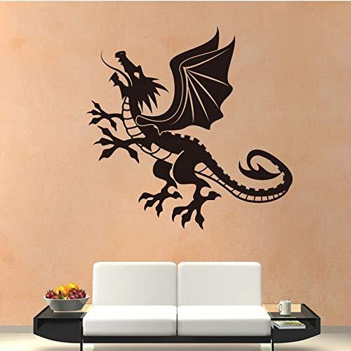 Njuxcnhg Drachenfliegen Muster PVC Wandaufkleber Tiny Tots Room Decor Selbstklebende Vinyl Wasserdicht Hintergrund Wandkunst Aufkleber 58X58 cm -
