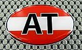 3D Lettering Österreich Flagge Kuppel 3D Aufkleber Aufkleber Set 6,1x 4,1cm Oval