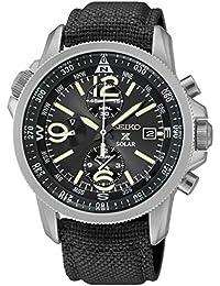 Seiko Herren-Armbanduhr Chronograph Quarz Textil SSC293P2