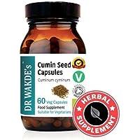 Preisvergleich für DR WAKDE'S® Kreuzkümmel-Kapseln (Cumin) I 100% Kräuter I 60 Vegetarische Kapseln I Ayurvedische Nahrungsergänzung...