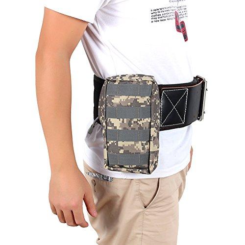 Taktische Taille Tasche Multifunktions Nylon Tasche Bauchtasche Magazintasche für Radfahren, Wandern, Trekking, Bergsteigen Ourdoor Sport ACU