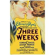 Tres Semanas Póster de película 11x 17en–28cm x 44cm Aileen Pringle Conrad Nagel John H. San Polis Reeves-Smith