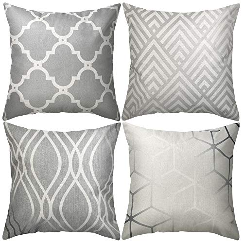 JuneJour Set of 4/6 Throw Cushio...