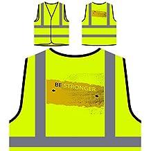 Sé más fuerte Divertido Nuevo Bien positivo Inspírate Chaqueta de seguridad amarillo personalizado de alta visibilidad d157v