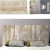 Adhesivo decorativo para pared de madera diseño de cabecero.