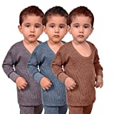 #8: Red Fort Thermal Top Grey, Blue and Brown Color for Boys and Girls - Pack of 3