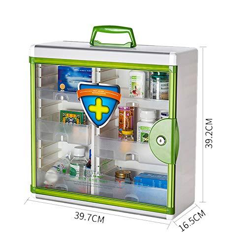 Medicine box Boîte de Pharmacie Murale Murale de Stockage de Stockage de Grande capacité, boîte de Premiers Secours 23 × 16,5 × 39,2 cm