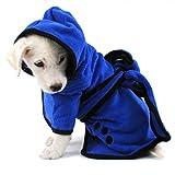 LA VIE Hundemantel Hund Trocknend Coat Soft Bequem Towling-Microfiber Schnelltrocknendfür