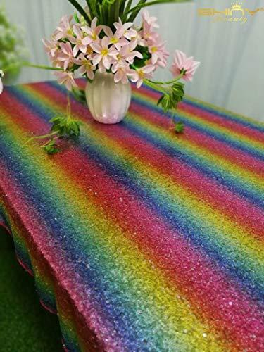 ischdecke 152,4 x 304,8 cm Bling Home Decor Rainbow Party Dekorationen Home Table Decor CT0513 ()