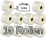 Bubprint 10 Etiketten kompatibel für Dymo 11354 S0722540 für Labelwriter 310 320 330 400 450 Duo Twin Turbo 57 x 32 mm weiß white