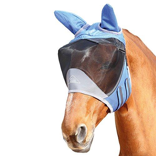 Shires Deluxe Fliegen Maske Mit Ohren Cob Royal Blue