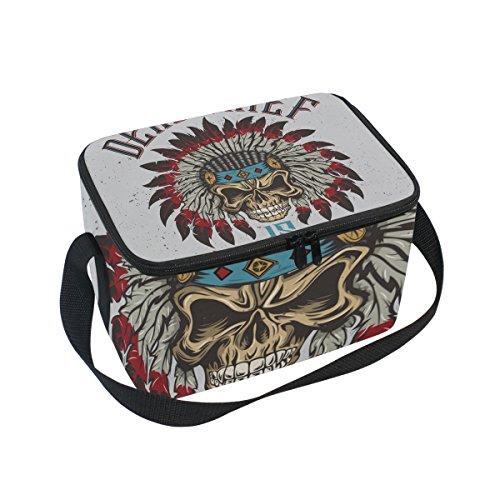 Kostüm Schmuck Zitate - Isolierte Lunchtasche/Kühltasche mit Indianermotiv, wiederverwendbar, für Outdoor-Reisen, Picknick-Taschen