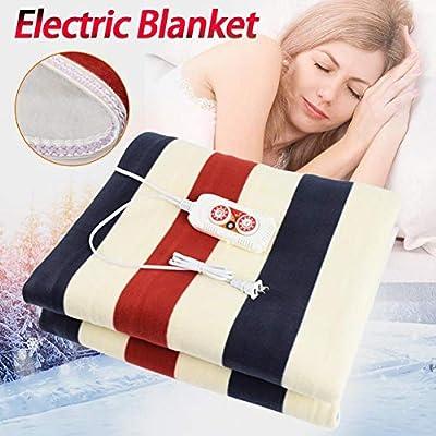 Manta eléctrica inteligente, manta eléctrica lavable, manta eléctrica cama doble, control remoto para temperatura constante Almohadilla térmica de calentamiento rápido, almohadilla eléctrica de calent