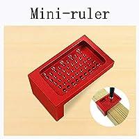Tensay 50-Hole Woodworking Ruler Aluminum Alloy L-shaped Woodworking Ruler Mini-marker, Great Helper for DIY Garden Home