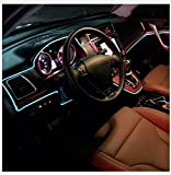 #4: Ramanta™ EL Wire Car Interior Light Ambient Neon Light for Maruti Swift - 5 Meter Roll (Ice Blue, Pack of 1)