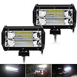 """Suparee 5"""" 72W LED Projecteur Spot Lampe de Travail Feux Antibrouillard pour SUV ATV Camion Tout-terrain Tracteur Bateau (2 PCS)"""