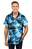 V.H.O Funky Chemise Hawaienne, New Surf, Turquoise foncé, L