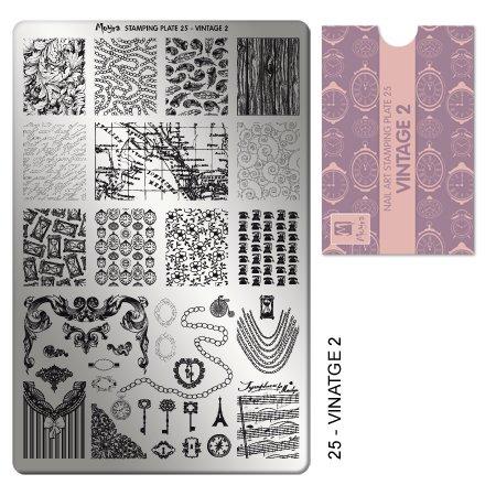 Moyra Stampingplatte 25 Vintage 2 (Vintage Parfüm-set)