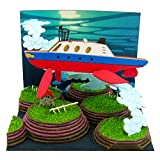 Studio Ghibli mini Ponyo on the Cliff by the Sea basking shark issue and the sea farm MP07-36 non-scale paper craft