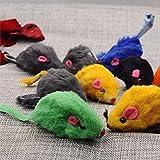 Bargain World Juguete gatito mascota gato de mini ratones del ratón de felpa suave juego juguete formación