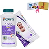 Himalaya Herbals Baby Powder (400g)+Himalaya Herbals Soothing Baby Wipes (24 Sheets) With Happy Baby Luxurious Kids Soap With Toy (100gm)