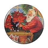 Kühlschrankmagnet für den Weihnachtsmann im Gewächshaus, 5,7 cm Durchmesser
