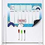 CKB Ltd® Magnetic REWARD CHART Penguin and Friends Pinguin Magnetischer Belohnungstafel für bis zu drei Kinder Feste T