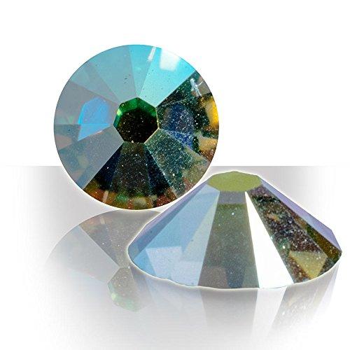 Véritable Cristal Swarovski Elements Plat Dos n'Hotfix Craft SS7 Péridot AB Nail Art Lot de 100