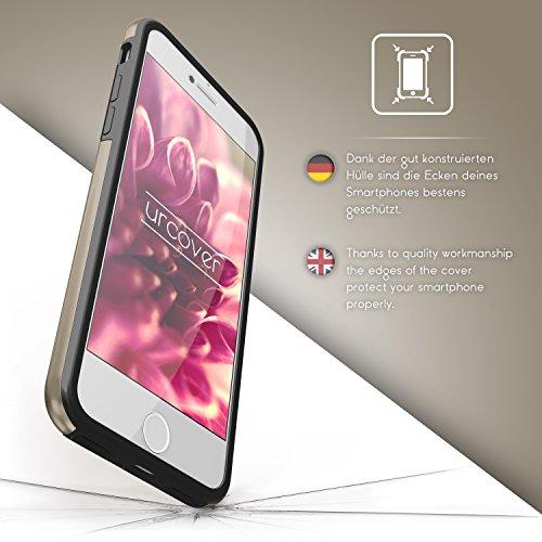 iPhone 7 Étui, Urcover Full Body Dual Apple iPhone 7 Coque 360 Degrés Layer TPU + PC Placage [Nouvelle Version] Housse Antichoc Rose Dorée Case Or