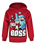 Official Minecraft Like A Boss Boy's Hoodie (7-8 Years)