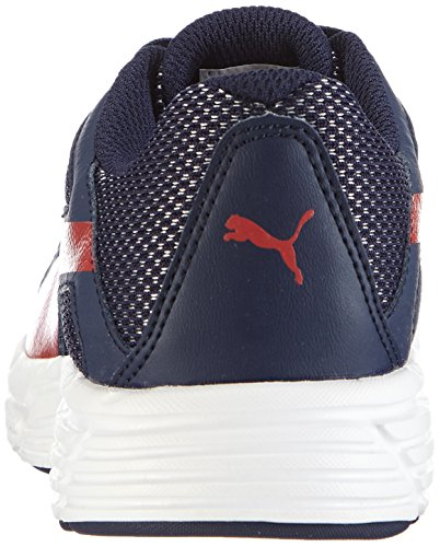 Puma  Axis v3 Mesh, Sneakers basses mixte adulte Bleu - Blau (peacoat-high risk red 07)
