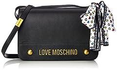 Idea Regalo - Love Moschino Nappa Grain Pu Nero - Borse a spalla Donna, (Black), 6x19x28 cm (B x H T)
