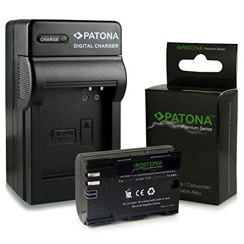 3in1 Caricabatteria + Premium Batteria LP-E6 LPE6 per Canon EOS 5D Mark II | EOS 5D Mark III | EOS 6D | EOS 7D | EOS 60D | EOS 60Da | EOS 70D