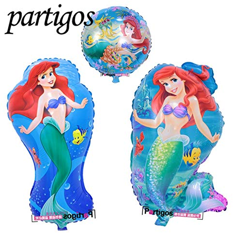 Uniqus The Little Mermaid Folienballons Ariel of Cartoon Prinzessin Ballon Helium Kinder Geburtstag Deko Globos Party Supplies