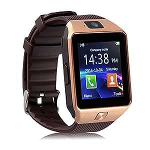 Mavv MVV DZ09 Smartwatch / Digital Smartwatch / WatchPhone Compatible With ZTE Axon 7 Mobiles - Golden