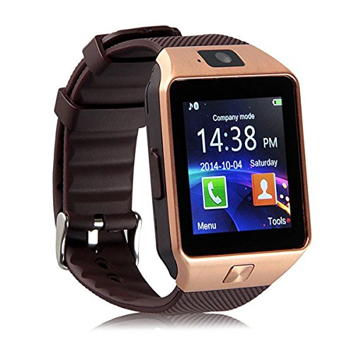 Mavv MVV DZ09 Smartwatch / Digital Smartwatch / WatchPhone Compatible With Sony Xperia Play Mobiles - Golden