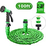 HOMOZE Expanding Garden Water Hose Pipe 100FT Expandable Flexible Magic Lightweight Hosepipe With