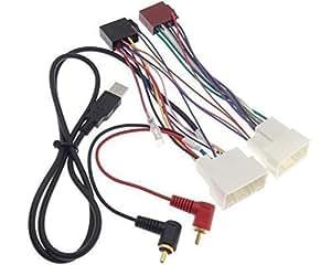 CHP adaptateur radio iSO pour hYUNDAI kIA aUX câble adaptateur fiche uSB/mP3 rCA