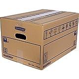 Bankers Box SmoothMove Pack de 10 Caisses de déménagement à double épaisseur
