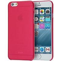 doupi UltraSlim Case per iPhone 6 Plus/6S Plus (5,5 pollici) satinato fine piuma facile Mat semi transparente Copertura Tacsa Custodia Caso Cover - Rosso