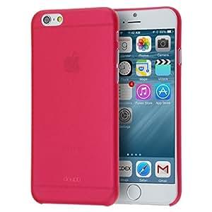 """doupi UltraSlim Case per iPhone 6 6S ( 4.7"""" ) satinato fine piuma facile Mat semi transparente Copertura Tacsa Custodia Caso Cover - Rosso"""