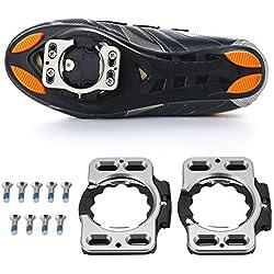 Fsskgx Chaussures de vélo de Route, Chaussures de vélo à Fixation Rapide, 1 Paire, Cales à pédale pour Speedplay Zero, Pave/Action Ultra légère, X1, X2, X5