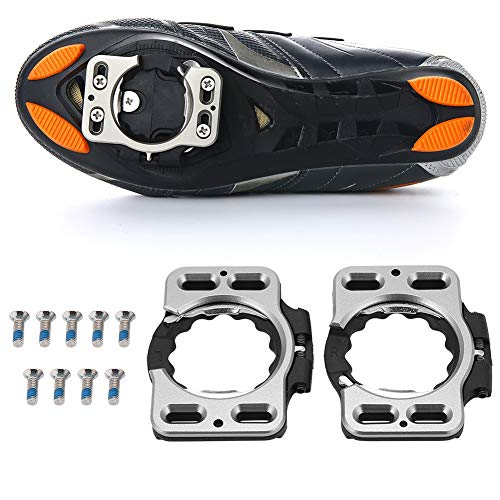 Fsskgx Tacchette da Bici da Corsa, 1 Paio di Scarpe da Bici con sgancio rapido, tacchette da Ciclismo, Pedali per Pedale per Gioco Speedplay Zero, Pave/Ultra Light Action, X1, X2, X5