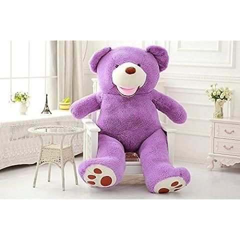 DIS Super grande 93peluche orsetto 2,4m, animale peluche peluche gigante grande morbido sorridente Big Bear 250cm 200cm 130cm 100cm, Purple, 100