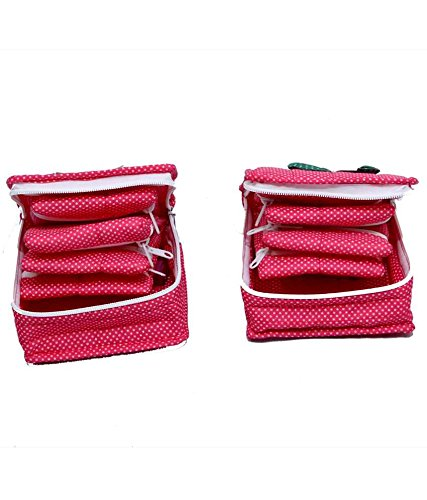 Kuber Industries Pink 2 Pcs Set jewellery Kit