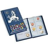 Leuchtturm 330102 Álbum de bolsillo con 2 hojas para 2 series compl. de monedas de euro de curso legal, azul