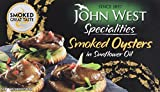 John West Smoked Oysters in Sunflower Oil, 85 g, Pack of 12